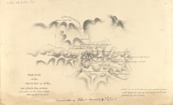 f.42' Map of the action of Goodar Pass. Sketch of the ground at Kotra on which the action took place on the 1st Decr, 1840.